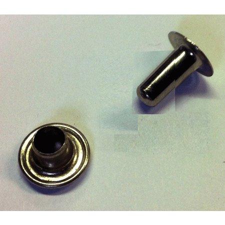 Holniet Koper-Vernikkeld 100 stuks: Hoogte 9 / Draad 3,5 / kop 9 mm of Hoogte 12 / Draad 3,5 / Kop 13 mm