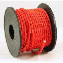 Polyester touw 3mm op spoel. Rood Unicolor