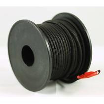 Polyester touw 3mm op spoel. Zwart Unicolor