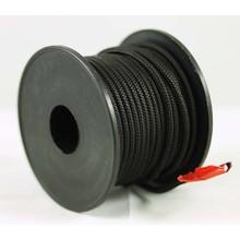 Polyester touw 3mm op spoel. Zwart.