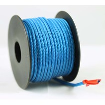 Polyester touw 3mm op spoel. Blauw Unicolor