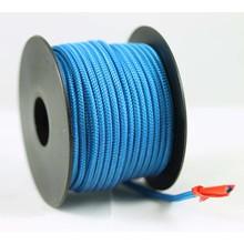 Polyester touw 3mm op spoel. Blauw.