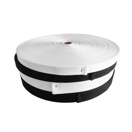 Nylonband 1366   Wit 25 mm. Per rol 100 meter