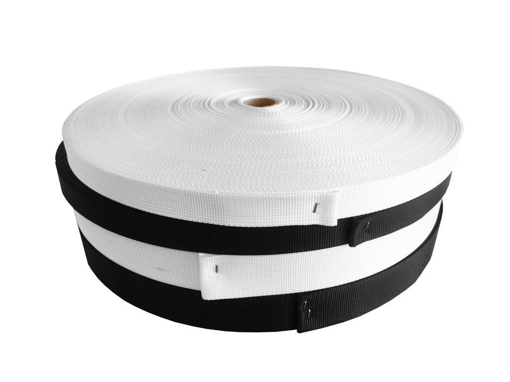 Nylonband 1366 | Zwart 40 mm. Per rol 100 meter