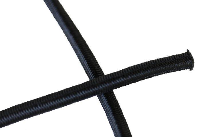 Shockcord zwart 10 mm