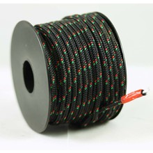 Polyester touw 3mm op spoel. Zwart Multicolor