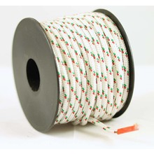 Polyester touw 3mm op spoel. Wit Multicolor
