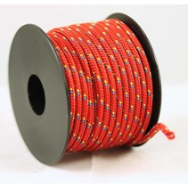 Polyester touw 3mm op spoel. Rood Multicolor