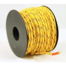 Polyester touw 3mm op spoel. Geel Multicolor