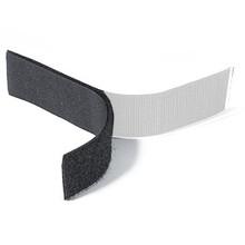 Klittenband Zwart Lus (Zacht) Zelfklevend