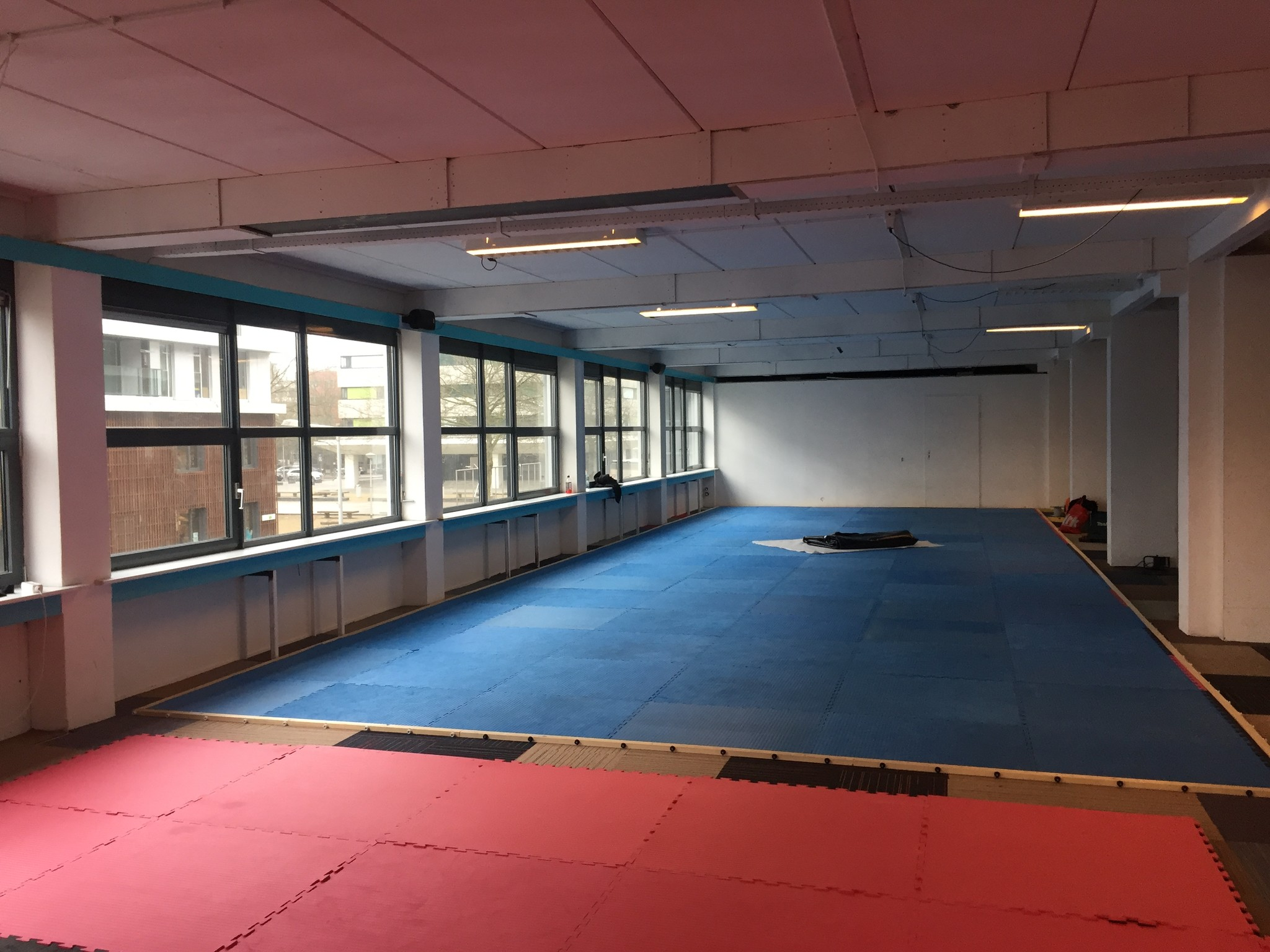 Montage Puzzelmatten Judo