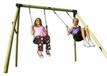 Plum Marmoset Wooden Garden Swing Set