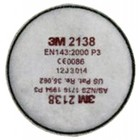 3M Stoffilter & organisch.damp rond P3 02138