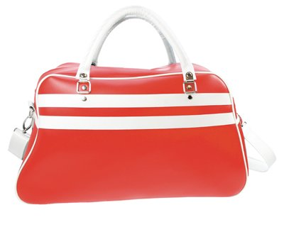 De Kleur Rood : Grote sporttassen in de kleur rood met witte accenten kopen
