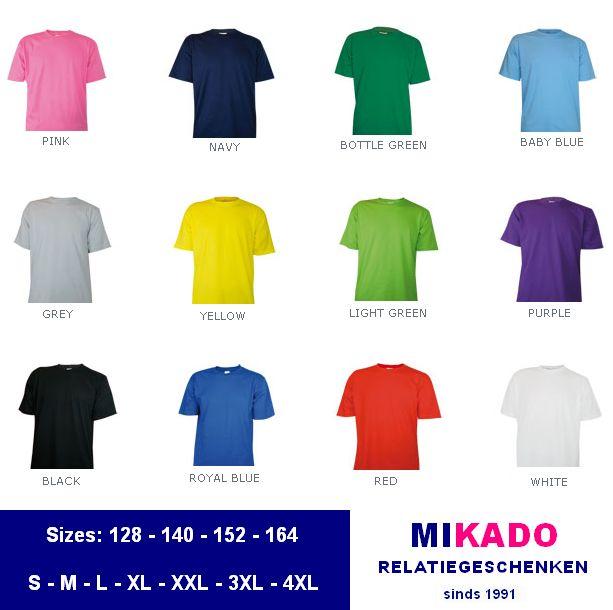 b306dffbb4a3a3 Goedkope T-shirts kopen  Goedkope T-shirts leverbaar in kindermaten ...