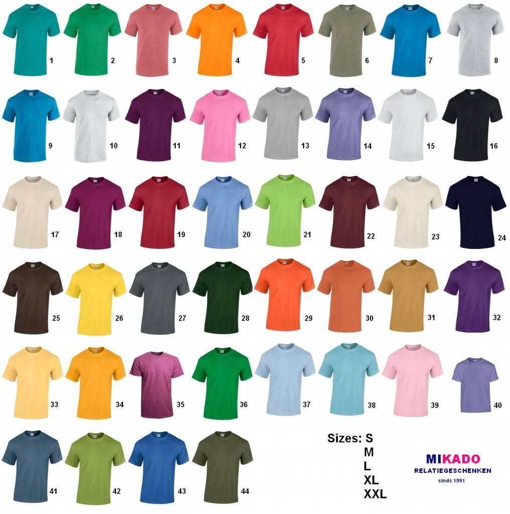 19c605bfaccce Qualidade Camisetas disponível em 44 cores diferentes (disponível em  tamanhos adultos S   XXL)