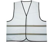 Goedkope witte Veiligheidshesjes met reflecterende strepen (1 volwassen uniseks maat)