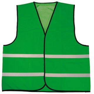 119eb78c144de Baratos coletes de segurança verde com listras refletivas (1 adulto tamanho  unisex)