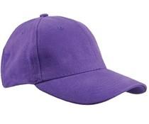 Baseballcaps in de kleur paars (volwassen maat)