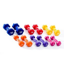Muscle Power Vinyl Dumbbells Aanbieding 1 - 5 KG