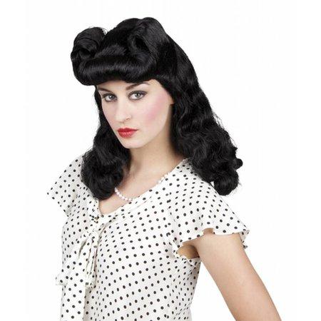 Pruik Burlesque zwart Annie