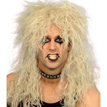 Carnavalspruik: Pruik lang haar blond Rocker