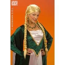 Pruik Middeleeuwse Koningin