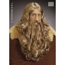 Vikingspruik met baard en snor