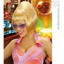Pruik partygirl 70's blond