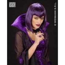 Pruik gothic vampire paars