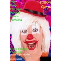 Clownspruik wit