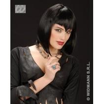 Pruik Gothic Vamp zwart