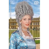 Pruik Marie Antoinette grijs