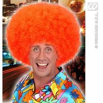 Pruik Jimmy neon oranje