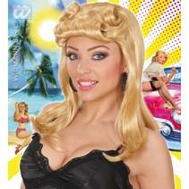 Pruik Pinup meisje blond