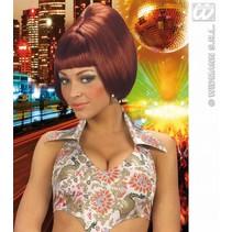 Pruik party girl 70's bruin