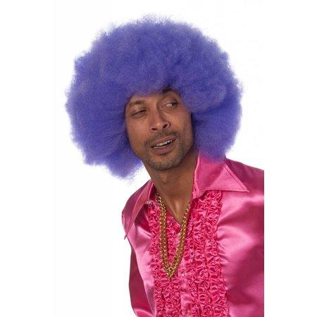 Afro pruik paars