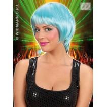Pruik rave turquoise