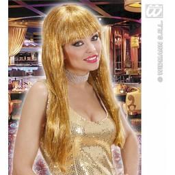 Glamour pruik Glitzy goud