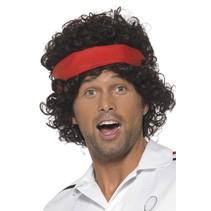 80's Tennis speler pruik