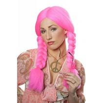 Heidi pruik roze