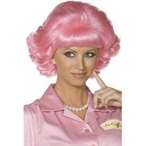 Frenchy Grease pruik pink
