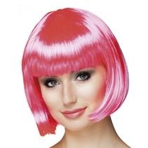 Pruik bobline new look roze