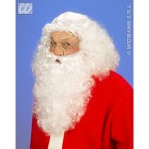 Luxe set pruik en baard Kerstman