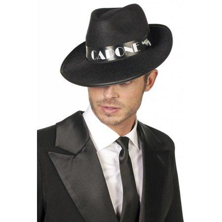 Al Capone hoed zwart eco