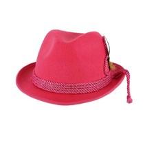 Tiroler hoed vilt fuchsia