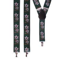 Bretel Tiroler groen met edelweiss bloem