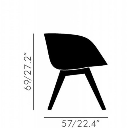 TOM DIXON SCOOP LOW CHAIR WOODBASE