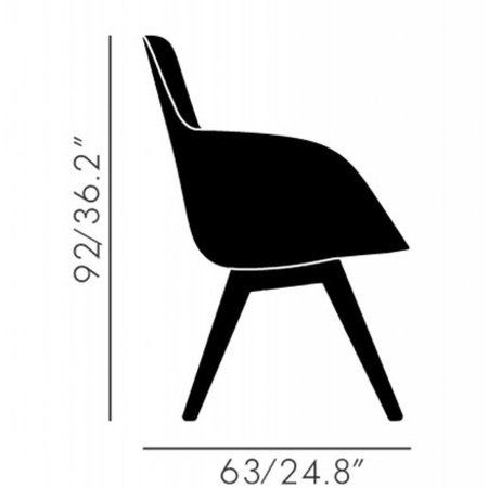 TOM DIXON SCOOP CHAIR HIGH BACK BLACK LEG