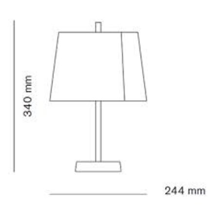 WASTBERG DESIGN LINDVALL W124T TABLE LAMP COPPER